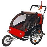 Fahrradanhänger Kinderfahrradanhänger mit Jogger 2in1 502-01