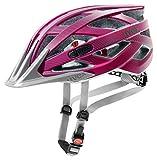 Uvex Erwachsene I-VO CC Fahrradhelm, dark pink mat, 52-57 cm