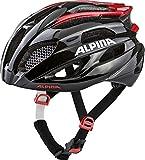 Alpina Unisex- Erwachsene FEDAIA Fahrradhelm, Black-red, 58-62 cm