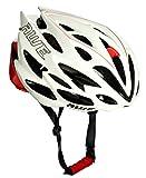 AWE AWESpeed In-Mould Helm Erwachsene Männer Straßen-Radsport 58-61cm Weiß/rot