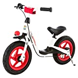 Kettler Laufrad 'Spirit Air Racing' - Farbe: schwarz, rot und weiß - Reifengröße: 12,5 Zoll, ab 3 Jahren geeignet - Lauflernrad für Jungs und Mädchen - verstellbare Höhe - mit Luftbereifung