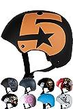 Skullcap BMX Helm  Skaterhelm  Fahrradhelm , Herren | Damen | Jungs & Kinderhelm, schwarz matt & glänzend (No. 5, S (51 - 54 cm))