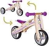 BIKESTAR Mini Kinder Laufrad Holz Lauflernrad mit DREI Rädern für Jungen und Mädchen ab 1 - 1,5 Jahre   2 in 1 Kinderlaufrad   Kleine Prinzessin   Risikofrei Testen