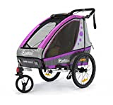 Qeridoo Kinderfahrradanhänger Jumbo1 violett Aluminium Jogger Fahrradanhänger Kinderwagen
