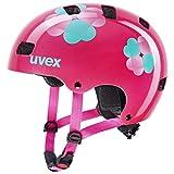 uvex Unisex Jugend Kid 3 Fahrradhelm, pink Flower, 51-55 cm