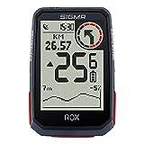 SIGMA SPORT ROX 4.0 Black HR Set | Fahrradcomputer kabellos GPS & Navigation inkl. Herzfrequenzsensor| Outdoor GPS Navigation mit Höhenmessung