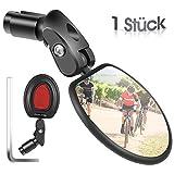 West Biking Fahrradspiegel, Rückspiegel Fahrrad-Lenkerenden, einstellbare 360°Drehung mit Rückreflektor, Mini Seitenspiegel Fahrradschutzspiegel, Links-Rechts Universell für Rennrad Mountainbikes