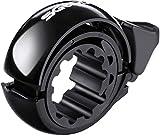 SGODDE Fahrradklingel Laut, O Design Fahrradglocke für Alle Fahrrad Lenker, Q Bell Radfahren Fahrrad MTB Mountainbike Glocke Alarm Horn Ring, für 22.2-31.8mm Lenker Schwarz (Hell Schwarz)