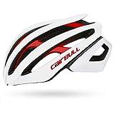 Ronshin Fahrradhelm Ultraleichter Rennradhelm Herren Damen Sport Sicherheitshelm, White Red, S/M (54-58CM)