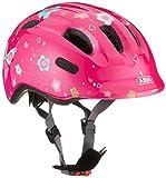 ABUS Smiley 2.0 Kinderhelm - Robuster Fahrradhelm für Mädchen und Jungs - 72567 - Pink mit Schmetterlingsmuster, Größe M