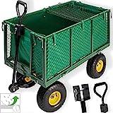 Kesser Bollerwagen 550kg belastbar Gartenwagen Transportwagen Gartenkarre herausnehmbare Plane Gerätewagen Handwagen vielseitig einsetzbar