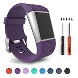 Für Fitbit Surge, Ersatz Bands für Fitbit Surge Activity Tracker (Purple Band Size L)