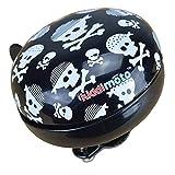 KIDDIMOTO Glocke Design Klingel/Fahrradklingel zubehör für Fahrrad, Roller, Scooter, Kinderroller Kinderfahrrad & Laufrad - Skullz/Pirat - Klein (58mm)