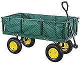 Miweba Bollerwagen MB-700 - Plane - Wände klappbar - 700 Kg Traglast - Luftreifen - Volumen 150 L - Gartenkarre – Transportwagen - Schubkarre - Gartenwagen