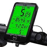 synmixx Fahrradcomputer Kabellos 27 Funktionen Fahrradtacho LCD Großbildschirm Drahtlos Radcomputer Tachometer wasserdichte Fahrrad Tacho Kilometerzähler für Radsport Realtime Speed Track