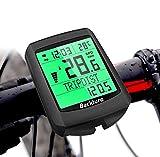BACKTURE Fahrradcomputer, 19 Multifunktions Drahtloser Wasserdichter Fahrrad Tachometer Kilometerzähler Auto Aufwecken LCD Hintergrundbeleuchtung 5 Sprache für Radsport Radgeschwindigkeits Tracking