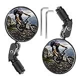 EUNEWR 2 Stück Fahrradspiegel - Universal Verstellbar 360° Weitwinkel Fahrradrückspiegel für 17,4-22 mm Flacher Fahrrad Lenker für Kinder & Erwachsene Ebike