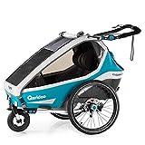 Qeridoo Kidgoo2 Sport Kinderfahrradanhänger (2020/2021) - Petrol