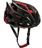 AWE AWESpeed In-Mould Helm Erwachsene Männer Straßen-Radsport 55-58cm Schwarz-rot-Carbon