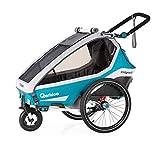 Qeridoo Kidgoo1 (2020/2021) Kinderfahrradanhänger, Fahrradanhänger 1 Kind - Petrol