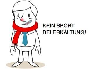 Kein Sport bei Erkältung