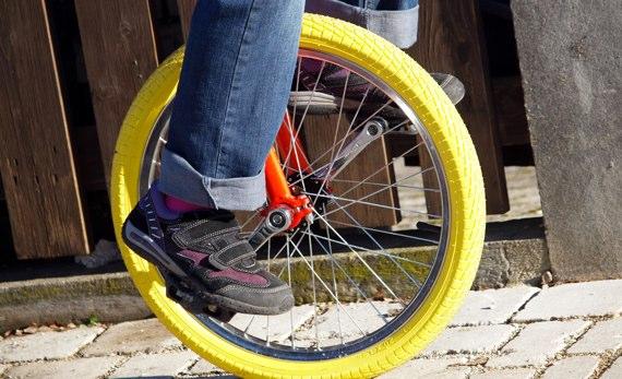 Einrad fahren lernen