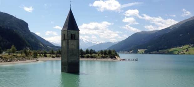 Reschensee Kirche im Wasser