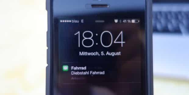 Alarm via SMS