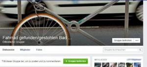 Fahrrad gestohlen: Facebookgruppe