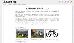 Screenshot von radklau-org