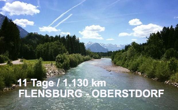 Flensburg Oberstdorf - Norden nach Süden Deutschland