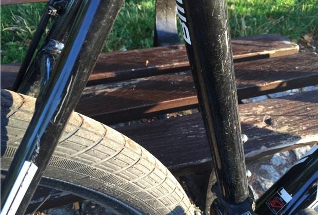 Kratzer am Fahrrad da keine Lackschutzfolie verwendet wird