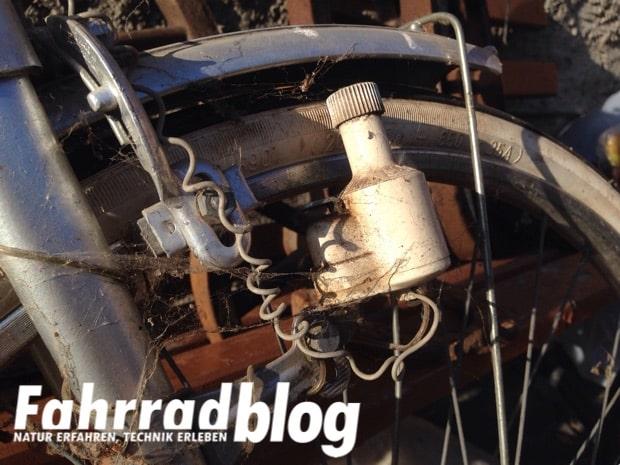 Seitenläuferdynamo für die Fahrradbeleuchtung