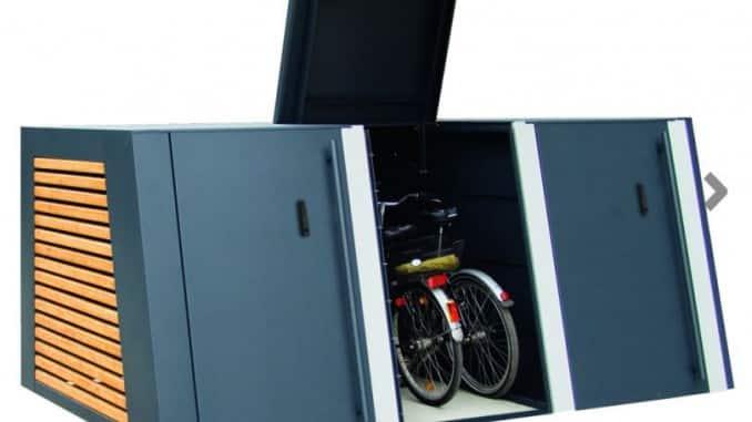 Fahrradgarage mit Flügeltür