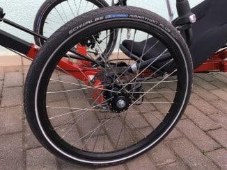 Schwalbe Marathon Plus Reifen am Liegerad