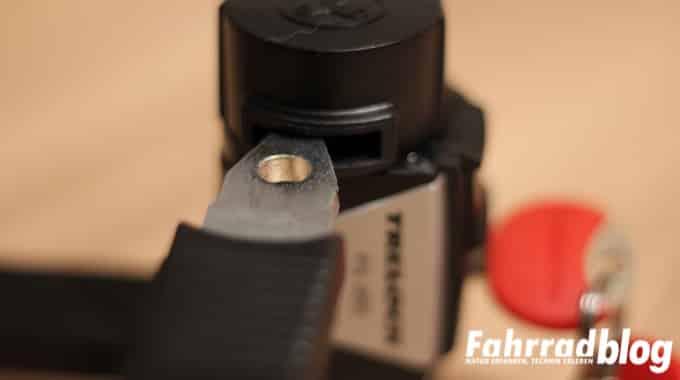 Drehbarer Verschlusskopf am FS455