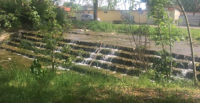 Die Unstrut - noch eher ein Bach statt ein Fluss