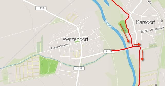 Unstrutradweg in Karsdorf nicht ausgeschildert