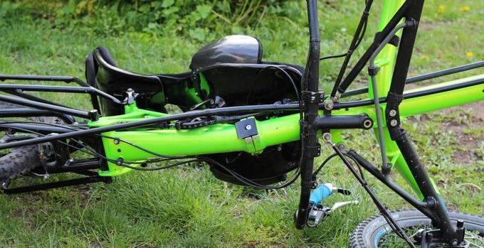 Unterseite am HP Velotechnik Scorpion fs26 Enduro