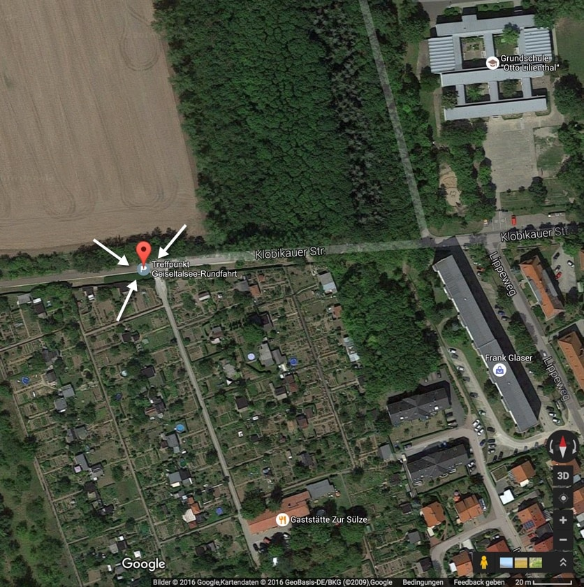 10 Uhr Treffpunkt in Merseburg West