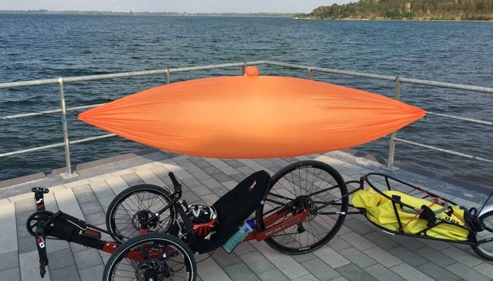 Hamaka Hängematte für Radtouren