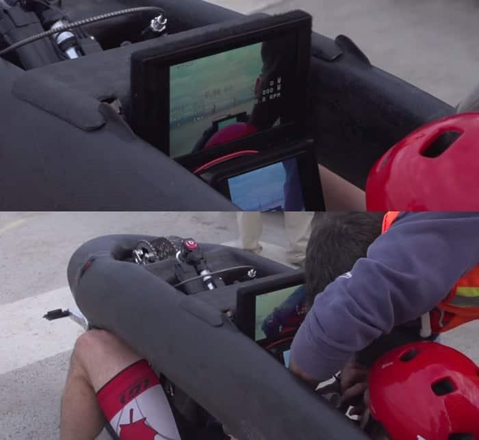 Eta mit Display im Cockpit