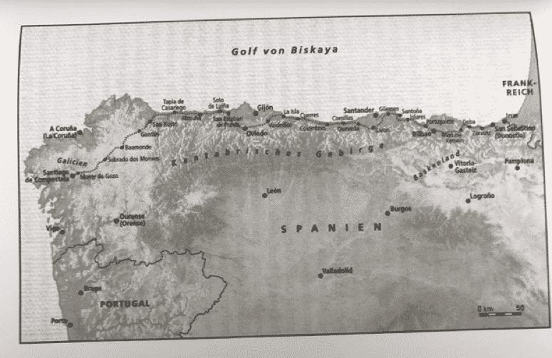 Karte Camino del Norte