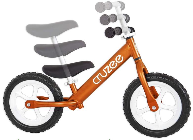Sattel und Lenkerhöhe beim Cruzee Laufrad