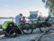 E-Bike mit Burley Fahrradanhänger