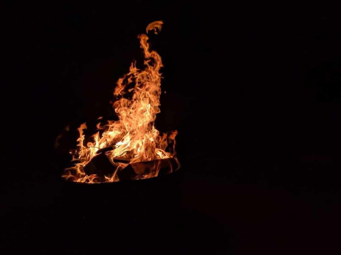 Lagerfeuer bei der Brockentour