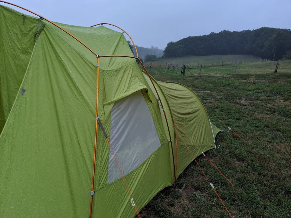 Vaude Zelt im Regen
